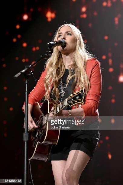 Holly Williams performs onstage for Loretta Lynn An AllStar Birthday Celebration Concert at Bridgestone Arena on April 1 2019 in Nashville Tennessee