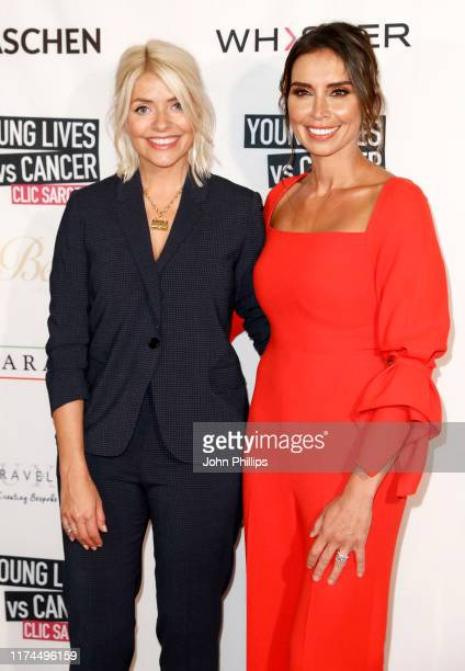 Holly Willoughby and Christine Lampard attend A Very British Affair Auction during London Fashion Week September 2019 at Claridge's Hotel on...