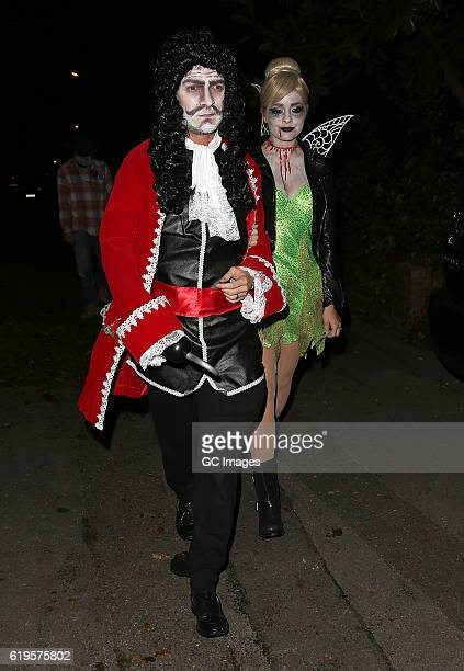 Holly Willoughby and Dan Baldwin attends Jonathan Ross's Halloween Party on October 31 2016 in London England