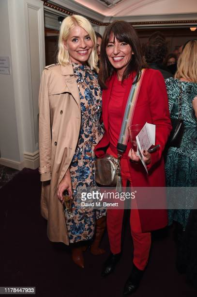 Holly Willoughby and Davina McCall attend the English National Opera's opening night of the season featuring a performance of Orpheus and Eurydice at...