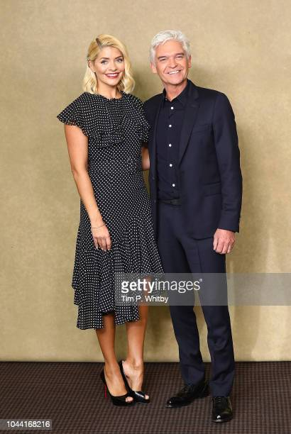 Holly Willoughby and Phillip Schofield attend a BAFTA tribute evening to long running TV show This Morning at BAFTA on October 1 2018 in London...