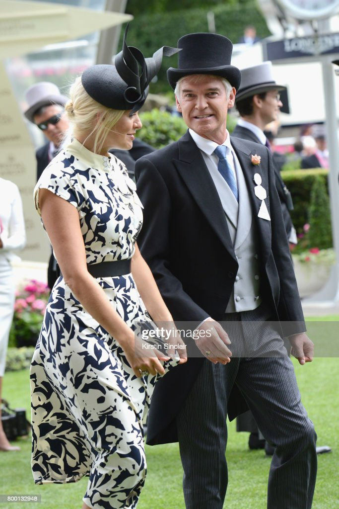 Holly Willoughby and Phillip Schofield attend day 4 of Royal Ascot at Ascot Racecourse on June 23, 2017 in Ascot, England.
