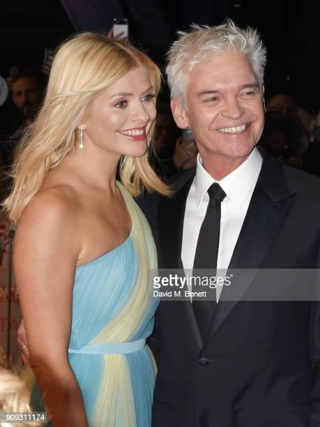 Holly Willoughby and Phillip Schofield attend the National Television Awards 2018 at The O2 Arena on January 23 2018 in London England