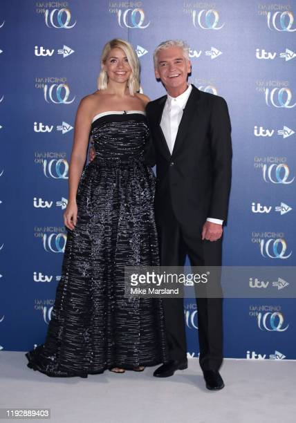 Holly Willoughby and Phillip Schofield during the Dancing On Ice 2019 photocall at ITV Studios on December 09 2019 in London England