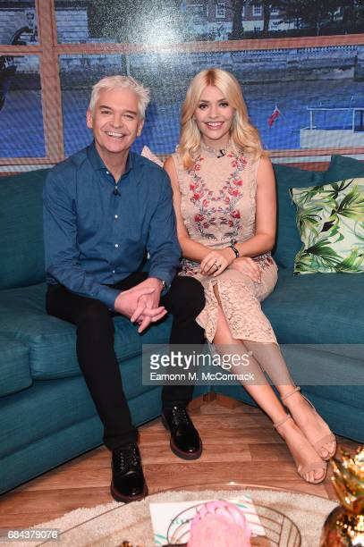 """Holly Willoughby and Phillip Schofield during """"This Morning"""" Live at NEC Arena on May 18, 2017 in Birmingham, England."""