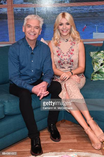 "Holly Willoughby and Phillip Schofield during ""This Morning"" Live at NEC Arena on May 18, 2017 in Birmingham, England."