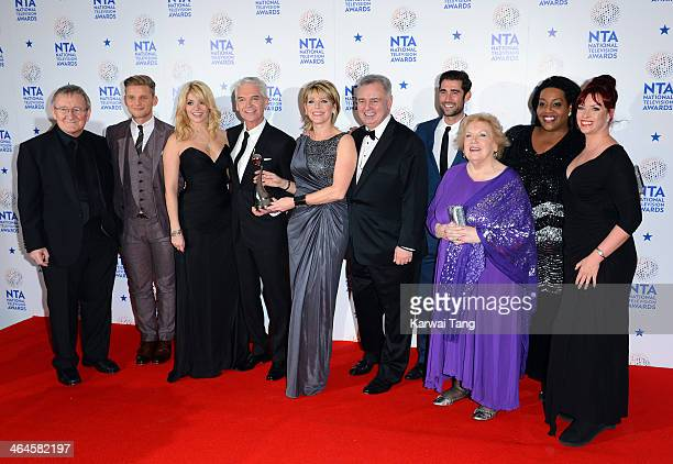 Holly Willoughby and Phillip Schofield pose after winning the Best Daytime award for This Morning with Chris Steele Jeff Brazier Ruth Langsford...