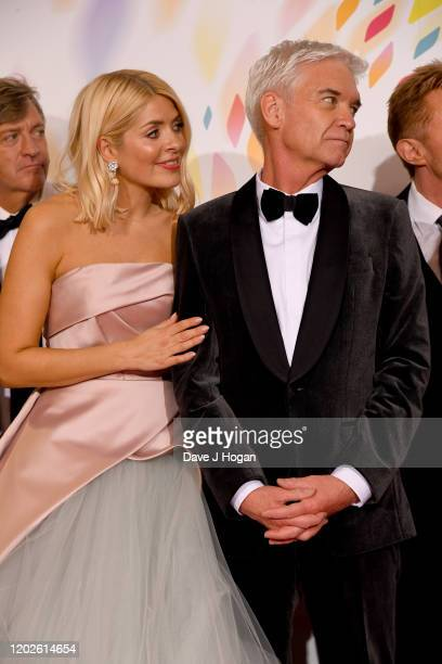 Holly Willoughby and Phillip Schofield win an award for This Morning at the National Television Awards 2020 at The O2 Arena on January 28 2020 in...