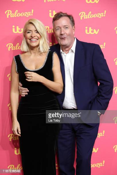 Holly Willoughby and Piers Morgan attend the ITV Palooza 2019 at The Royal Festival Hall on November 12, 2019 in London, England.