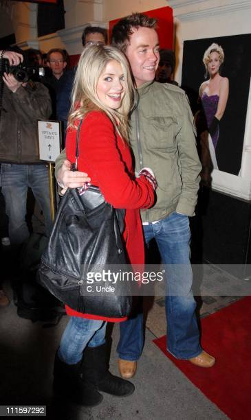 Holly Willoughby and Stephen Mulherne during Guys And Dolls VIP performance Red Carpet Arrivals at Piccadilly Theatre in London Great Britain