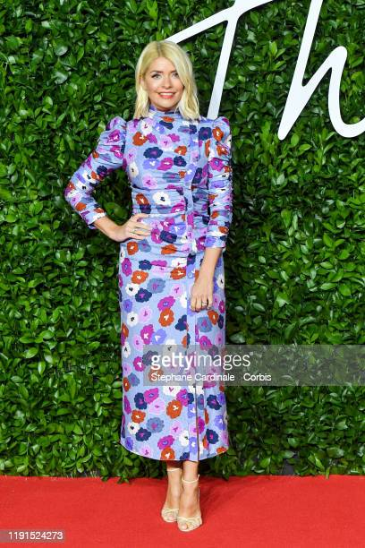 Holly Willoughby arrives at The Fashion Awards 2019 held at Royal Albert Hall on December 02, 2019 in London, England.