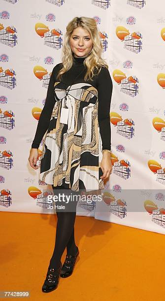 Holly Willoughby arrives at the Nickelodeon Kids' Choice Awards at ExCel on October 20 2007 in London England