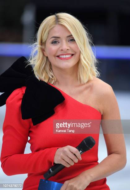 Holly Willoughby attends a photocall for the new series of Dancing On Ice at Natural History Museum Ice Rink on December 18 2018 in London England