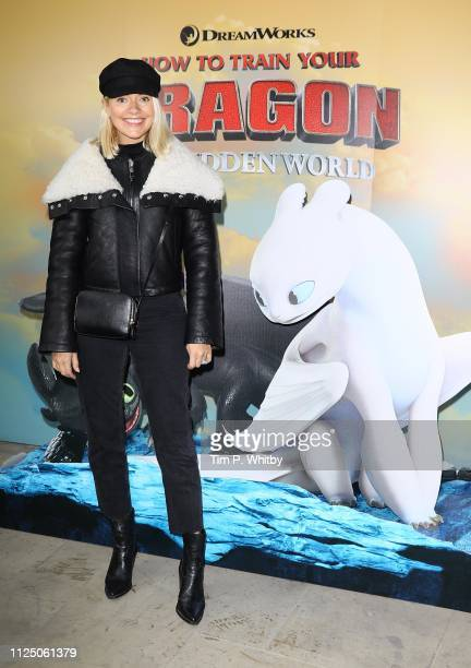 Holly Willoughby attends How To Train Your Dragon The Hidden World – Immersive Screening on January 26 2019 in London England
