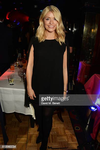 Holly Willoughby attends Mark Ronson's performance at Annabel's on March 2 2016 in London England