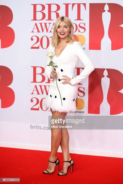 AWARDS 2018 *** Holly Willoughby attends The BRIT Awards 2018 held at The O2 Arena on February 21 2018 in London England