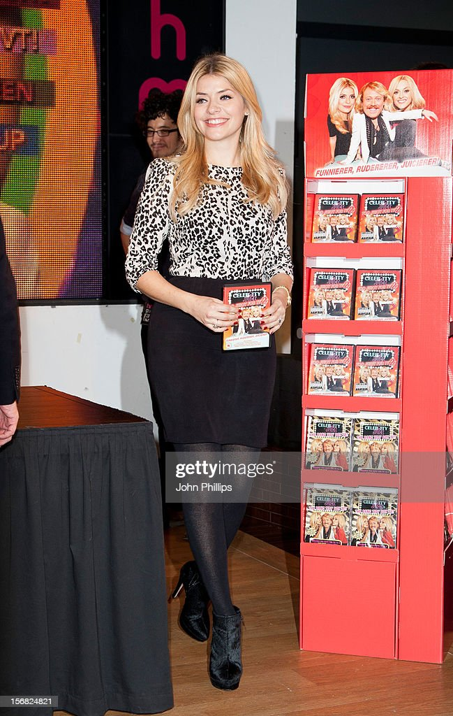 Holly Willoughby attends the DVD signing for 'Celebrity Juice: Too Juicy For TV 2' at HMV, Oxford Street on November 22, 2012 in London, England.