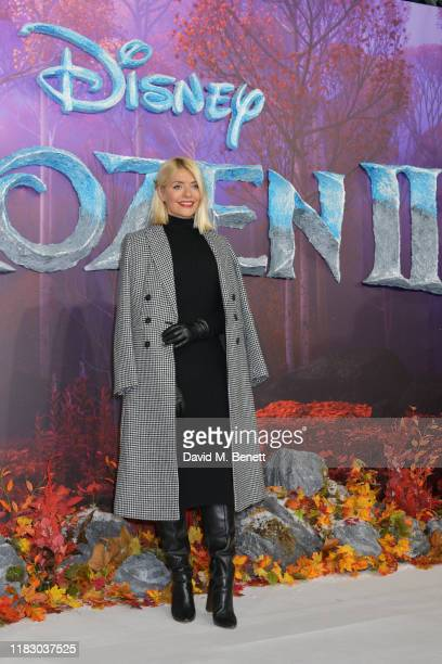 """Holly Willoughby attends the European Premiere of """"Frozen 2"""" at the BFI Southbank on November 17, 2019 in London, England."""