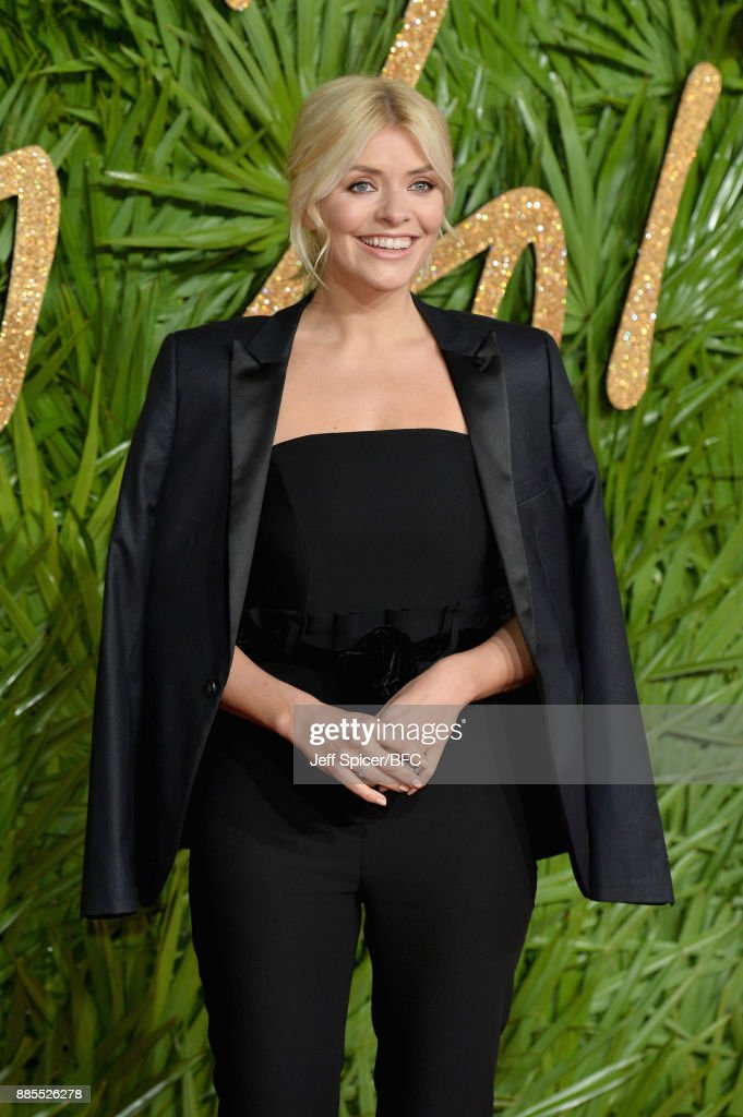 Holly Willoughby attends The Fashion Awards 2017 in partnership with Swarovski at Royal Albert Hall on December 4, 2017 in London, England.