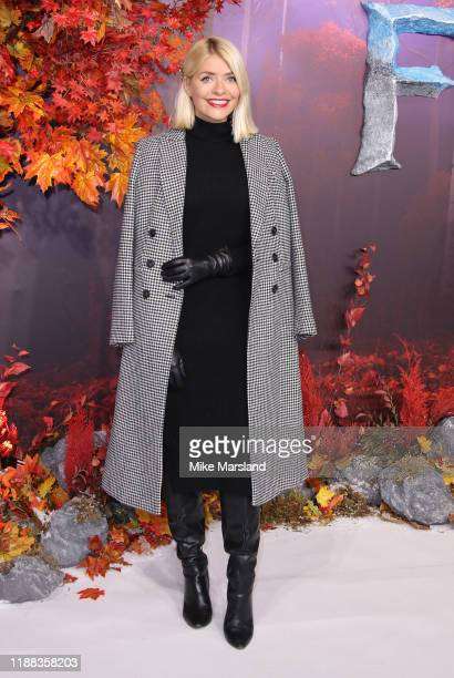 Holly Willoughby attends the Frozen 2 European premiere at BFI Southbank on November 17 2019 in London England