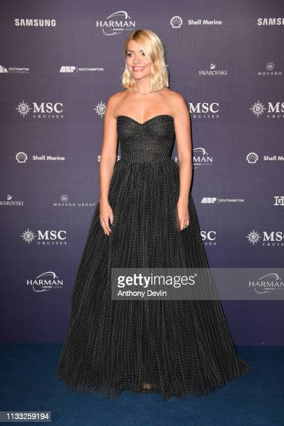 Holly Willoughby attends the MSC Bellisima Naming Ceremony on March 02 2019 in Southampton England