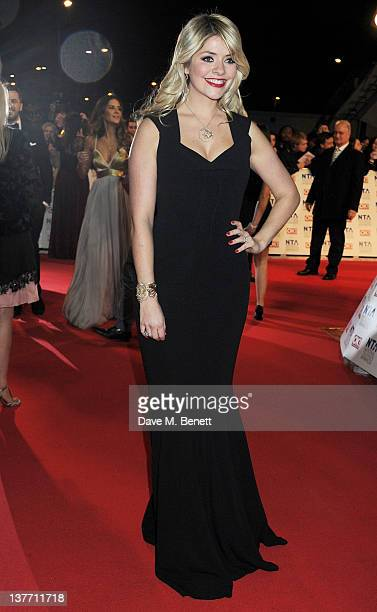 Holly Willoughby attends the National Television Awards 2012 at the O2 Arena on January 25 2012 in London England