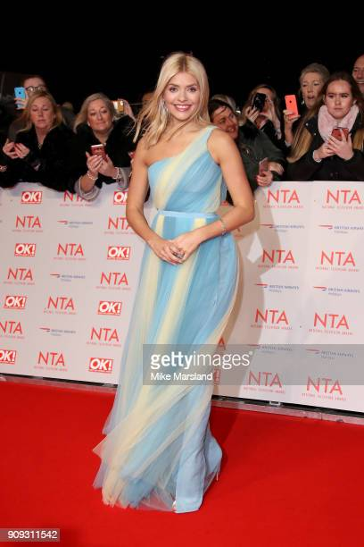 Holly Willoughby attends the National Television Awards 2018 at The O2 Arena on January 23 2018 in London England