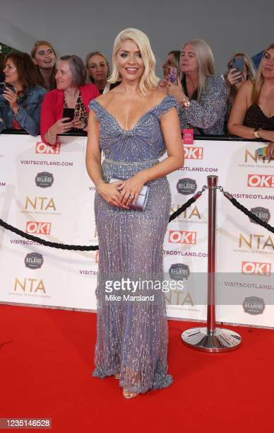 Holly Willoughby attends the National Television Awards 2021 at The O2 Arena on September 9, 2021 in London, England.