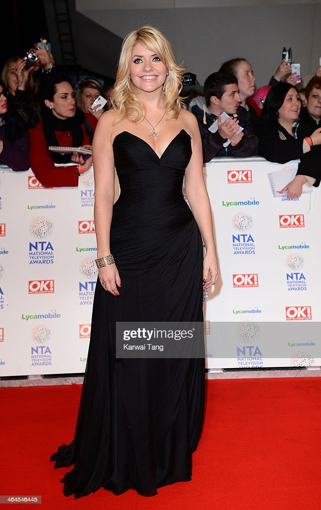 Holly Willoughby attends the National Television Awards at the 02 Arena on January 22, 2014 in London, England.