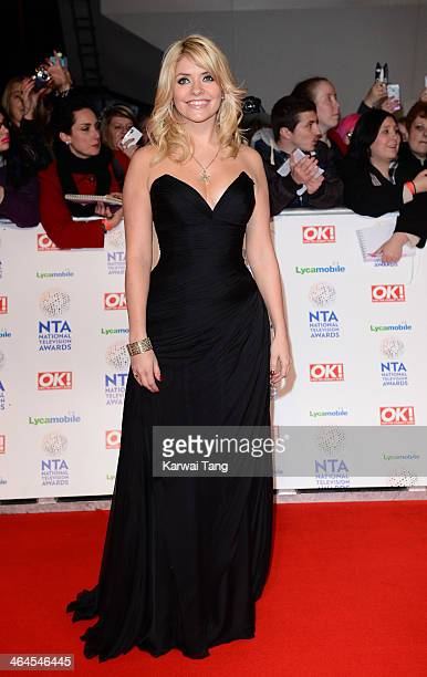 Holly Willoughby attends the National Television Awards at the 02 Arena on January 22 2014 in London England