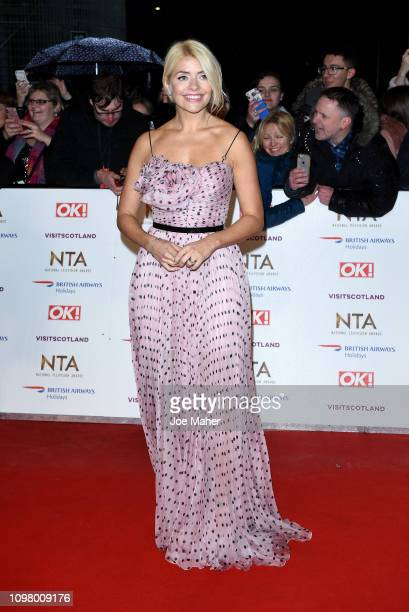 Holly Willoughby attends the National Television Awards held at The O2 Arena on January 22 2019 in London England