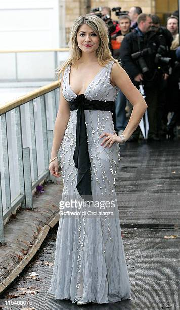 Holly Willoughby during Dancing on Ice TV Press Launch at Natural History Museum in London Great Britain