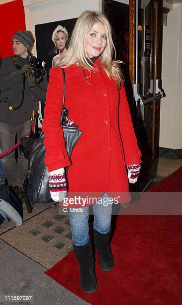 Holly Willoughby during Guys And Dolls VIP performance Red Carpet Arrivals at Piccadilly Theatre in London Great Britain