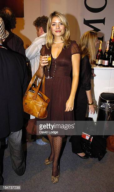 Holly Willoughby during London Fashion Week Spring/Summer 2007 BRude Runway at BFC Tent in London Great Britain