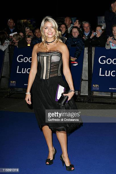 Holly Willoughby during National Television Awards 2005 at Royal Albert Hall London in London United Kingdom