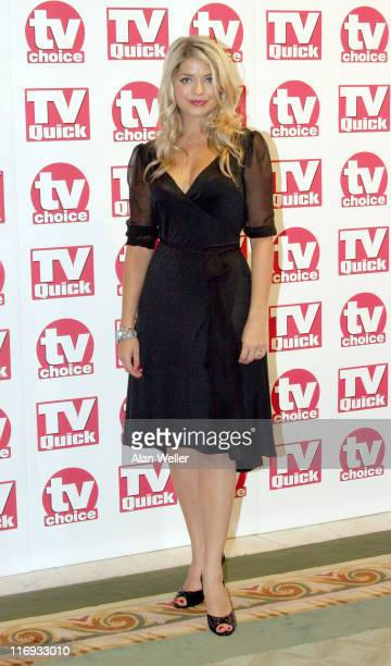 Holly Willoughby during TV Quick Awards TV Choice Awards Inside Arrivals at The Dorchester in London Great Britain