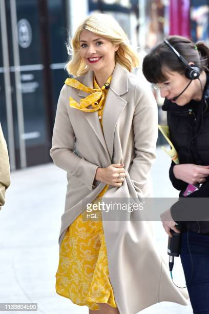 Holly Willoughby filming the This Morning show on March 05 2019 in London England