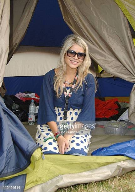 Holly Willoughby in the Virgin Mobile Louder Lounge at the V Festival