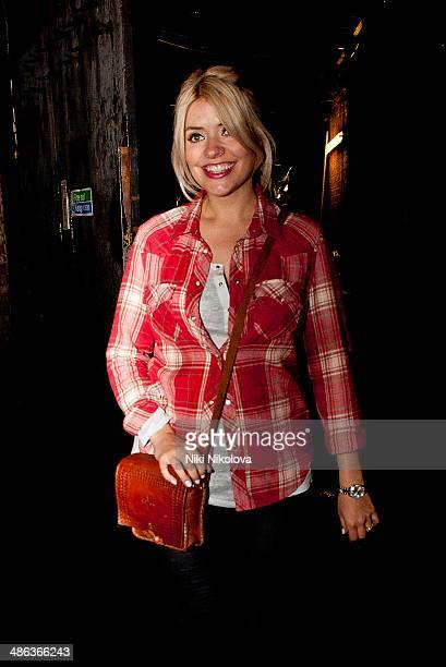 Holly Willoughby is seen leaving River Side Studio's Hammersmith on April 23 2014 in London England