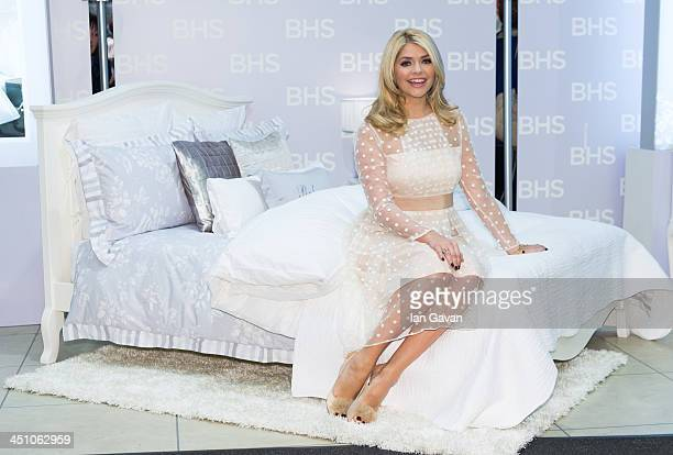 Holly Willoughby launches her bedding collection at BHS Oxford Street on November 21 2013 in London England