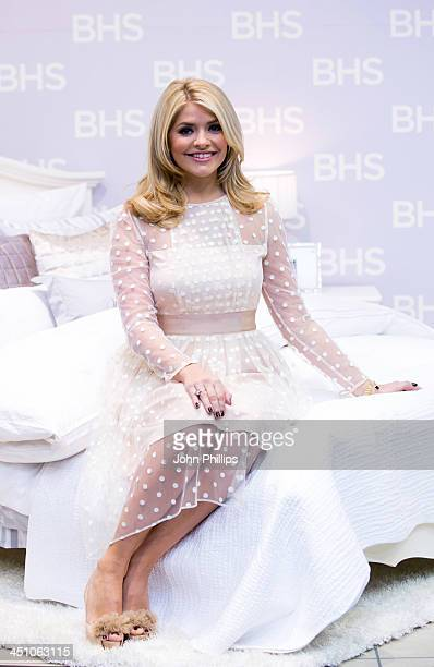 Holly Willoughby launches her first bedding collection at BHS Oxford Street on November 21 2013 in London England