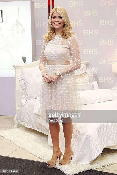 Holly Willoughby launches her new bedding collection at BHS Oxford Street on November 21 2013 in London England