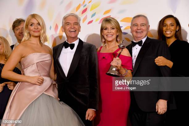 Holly Willoughby Phillip Schofield Ruth Langsford Eamonn Holmes and Rochelle Humes win an award for This Morning at the National Television Awards...