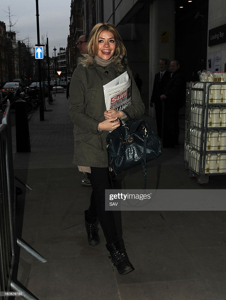 Holly Willoughby pictured at Radio 1 on March 28, 2013 in London, England.