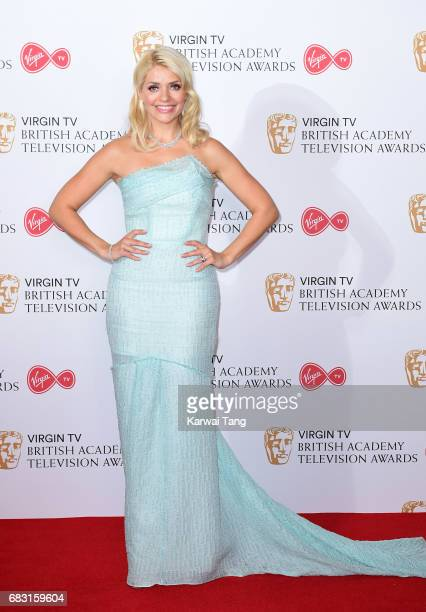 Holly Willoughby poses in the Winner's room at the Virgin TV BAFTA Television Awards at The Royal Festival Hall on May 14 2017 in London England