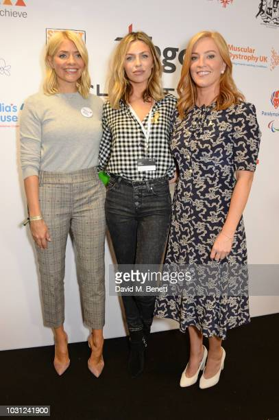 Holly Willoughby representing Together For Short Lives Abbey Clancy representing Children With Cancer and SarahJane Mee representing Clic Sargent...