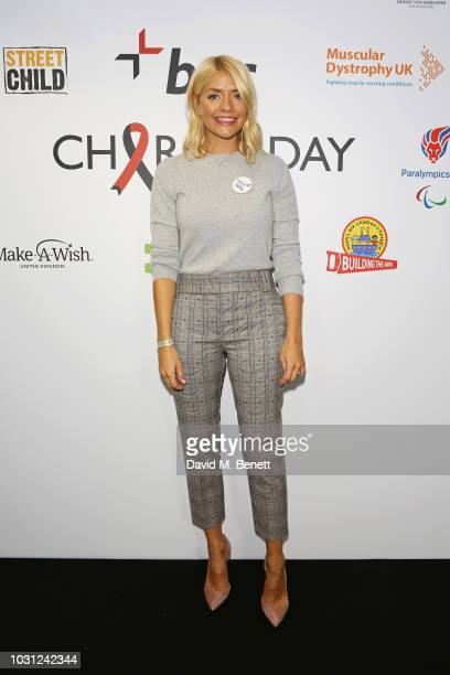 Holly Willoughby representing Together for Short Lives attends BGC Charity Day at One Churchill Place on September 11 2018 in London England
