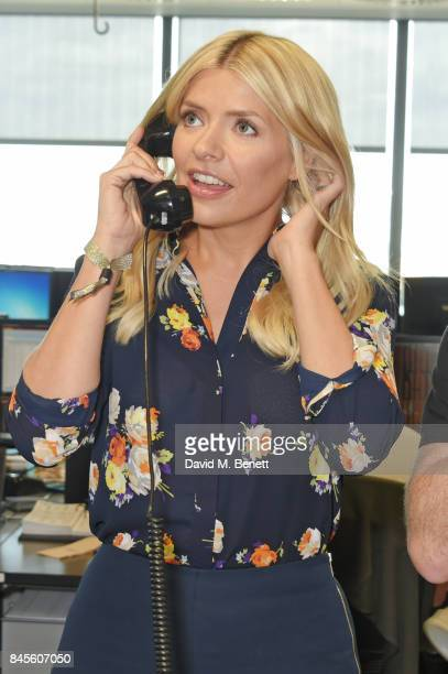 Holly Willoughby representing Together for Short Lives makes a trade at BGC Charity Day on September 11 2017 in London United Kingdom