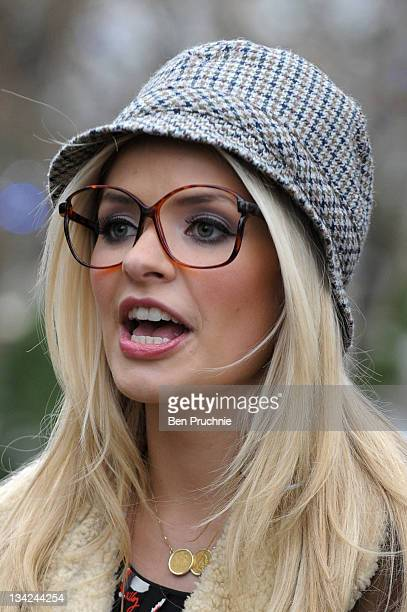 Holly Willoughby sighted in London on November 29 2011 in London England