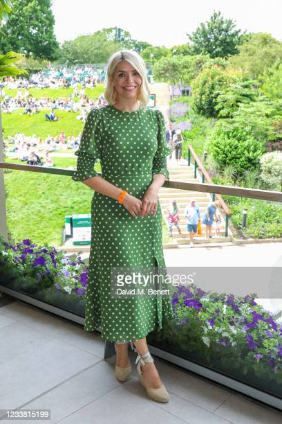 Holly Willoughby with Lanson Champagne at The Championships at Wimbledon on July 5, 2021 in London, England.